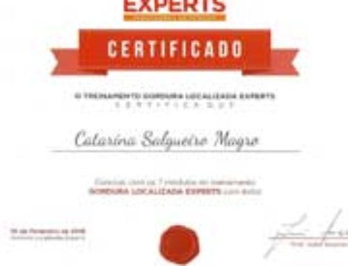 Certificado – Gordura Localizada Experts